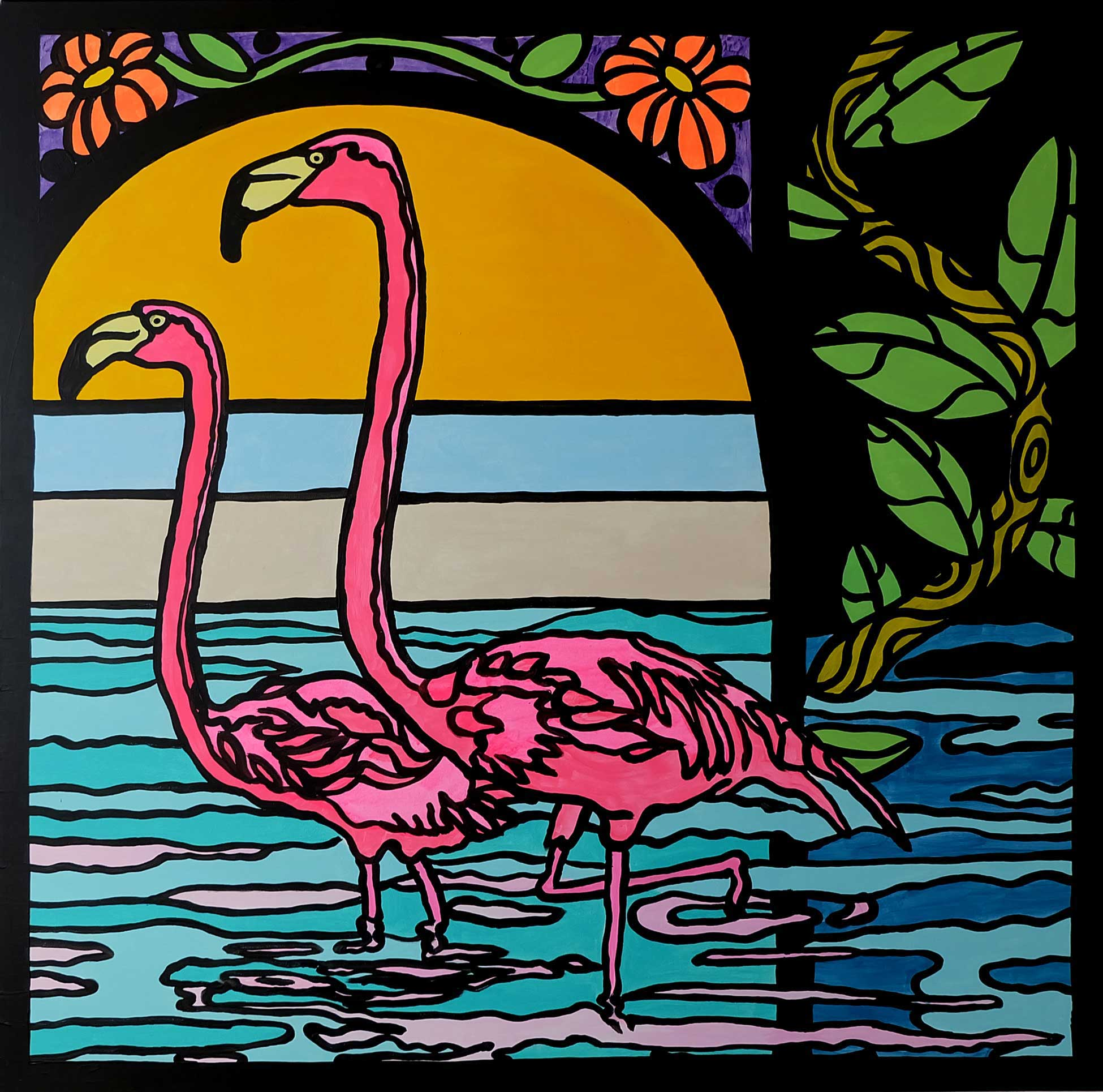 Flamingo Window by Nomad